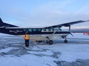 Single propeller plane lands in Fort Good Hope with Leslie Williamson
