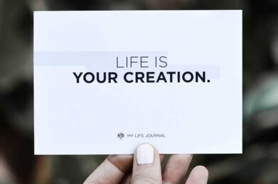 Life is Your Creation by My Life Journal on Unsplash