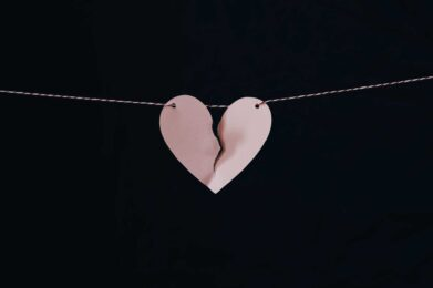 Navigating Separation and Divorce using Nonviolent Communication skills | photo of broken paper heart on string by Kelly Sikkema on Unsplash